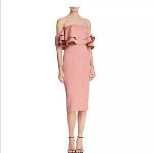 KEEPSAKE Women's Pink Off Shoulders Cocktail Dress